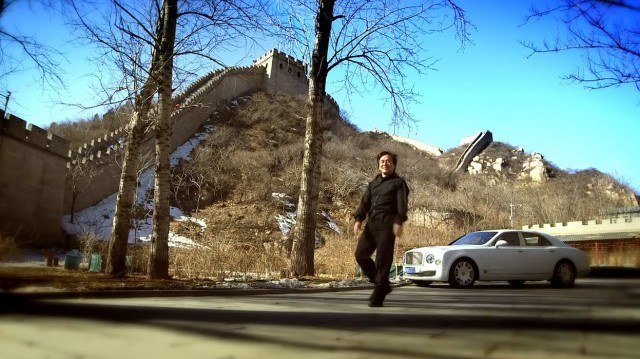 Bentley Mulsanne at the Great Wall of China