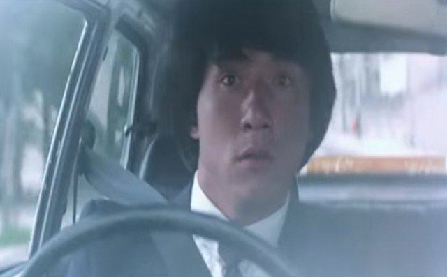 Young Jackie Chan driving