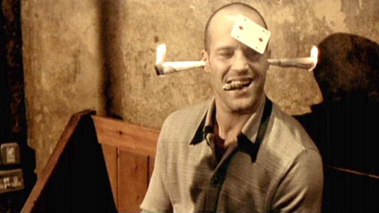 Jason Statham in Lock, Stock and Two Smoking Barrels