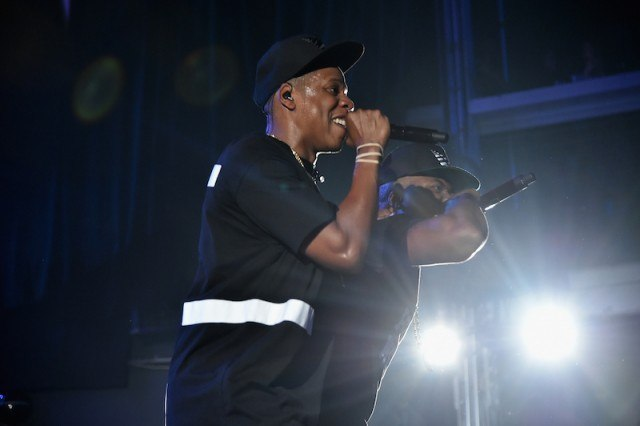 Jay-Z performs on stage