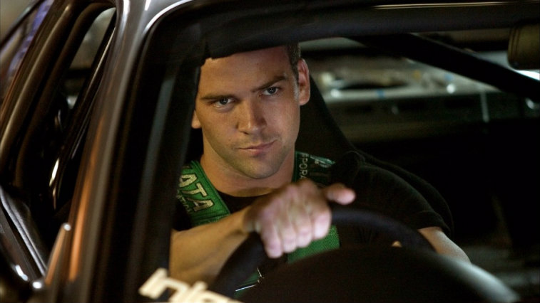 Lucas Black getting ready to drive fast and furious
