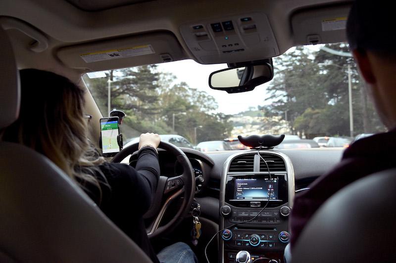 Lyft passengers and driver