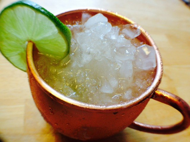 a cup of Moscow Mule