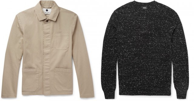 NN07 utility jacket and A.P.C. sweater