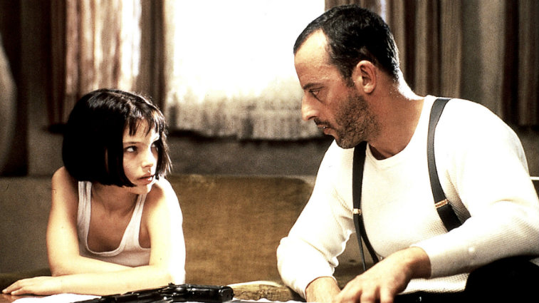 Natalie Portman and Jean Reno in Leon The Professional