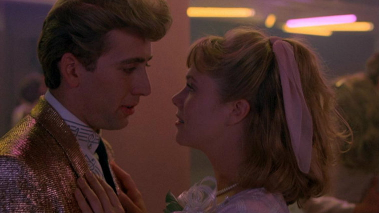 Nicolas Cage and Kathleen Turner in dancing in Peggy Sue Got Married