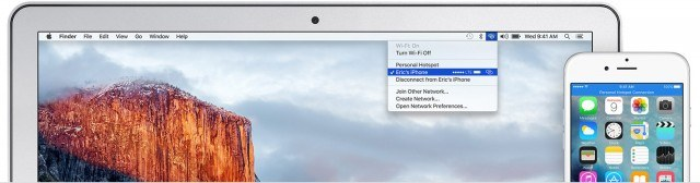 Using a mobile hotspot on Mac and iPhone