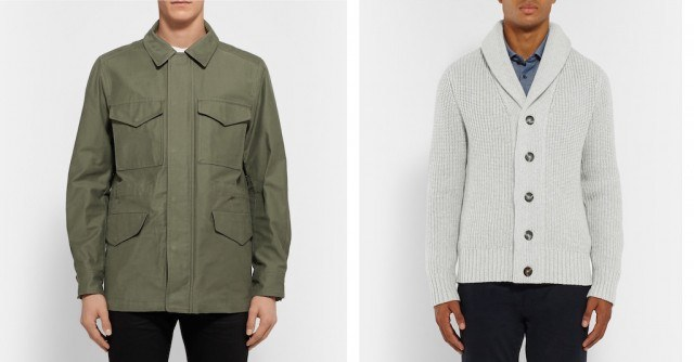 Rag & Bone field jacket and Michael Kors shawl-collar cardigan