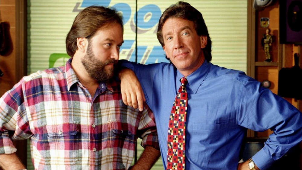 Richard Karn looks at Tim Allen on Home Improvement