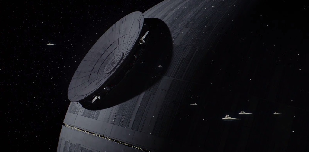 The Death star, nearing the end of construction