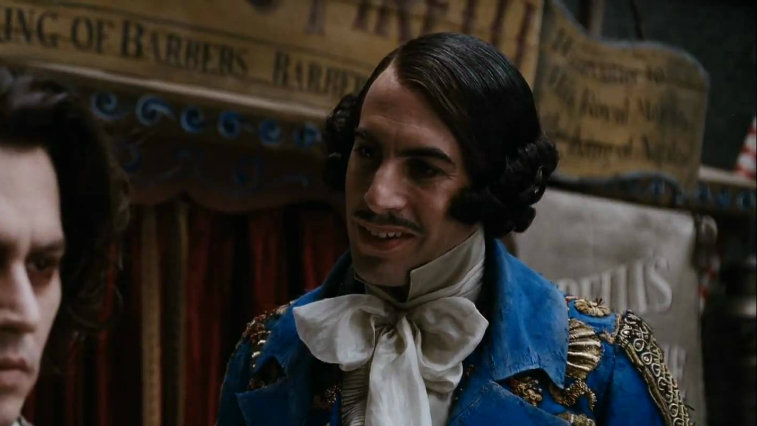 Sacha Baron Cohen in Sweeney Todd The Demon Barber of Fleet Street
