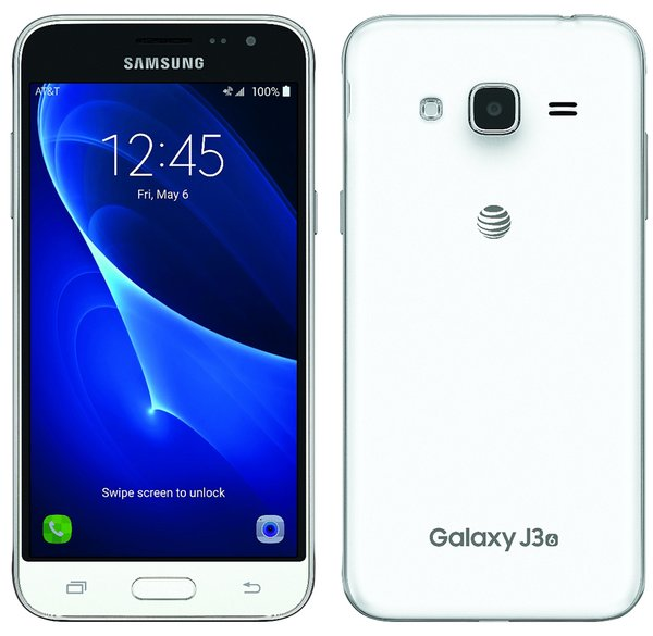 An image of the Samsung Galaxy J3 2016, leaked by Evan Blass, showing a metal casing