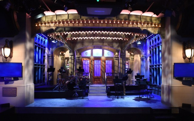 Saturday Night Live stage seen from the audience's point of view.