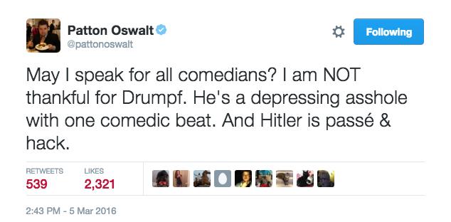 Patton Oswalt - Donald Drumpf Tweet