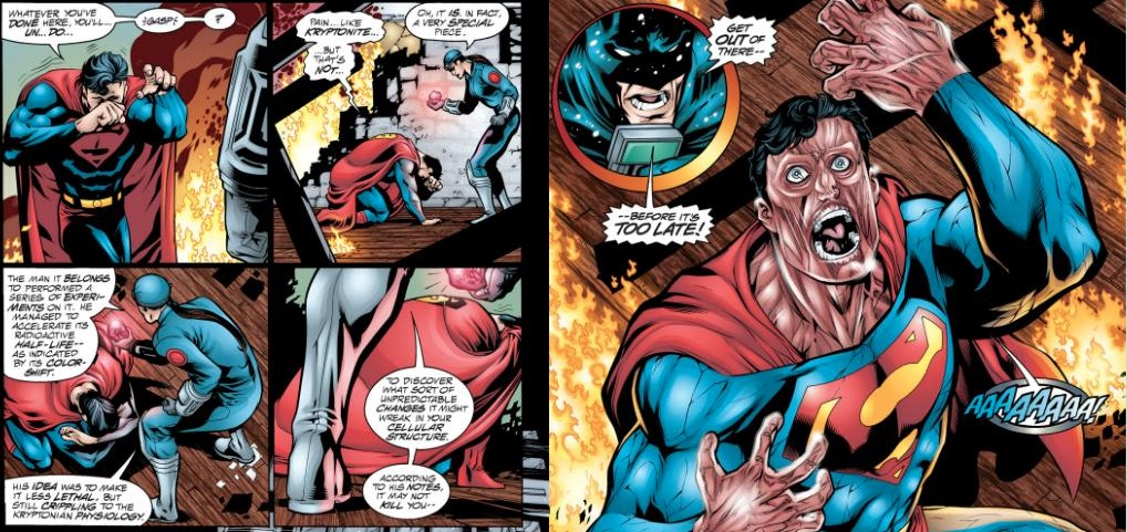 Superman and Red Kryptonite - DC Comics