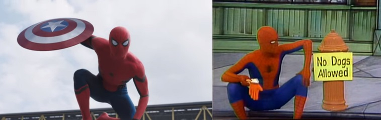 Two different Spider-Mans