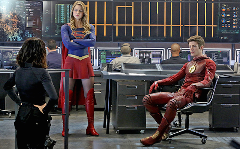 Supergirl meets the Flash