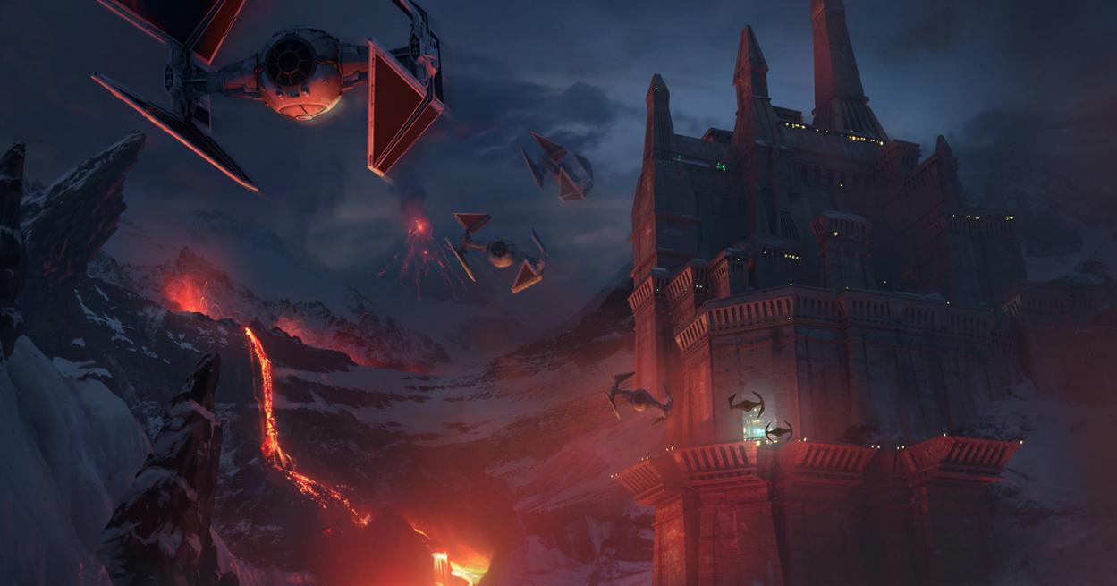TIE interceptors Concept Art - Star Wars
