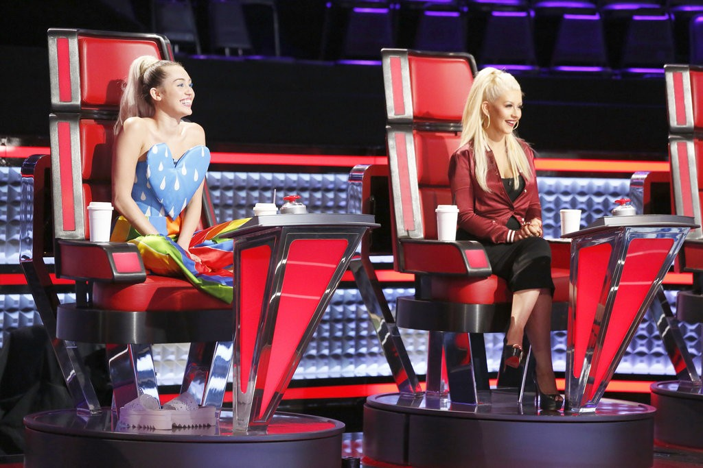 Miley Cyrus, Christina Aguilera, The Voice