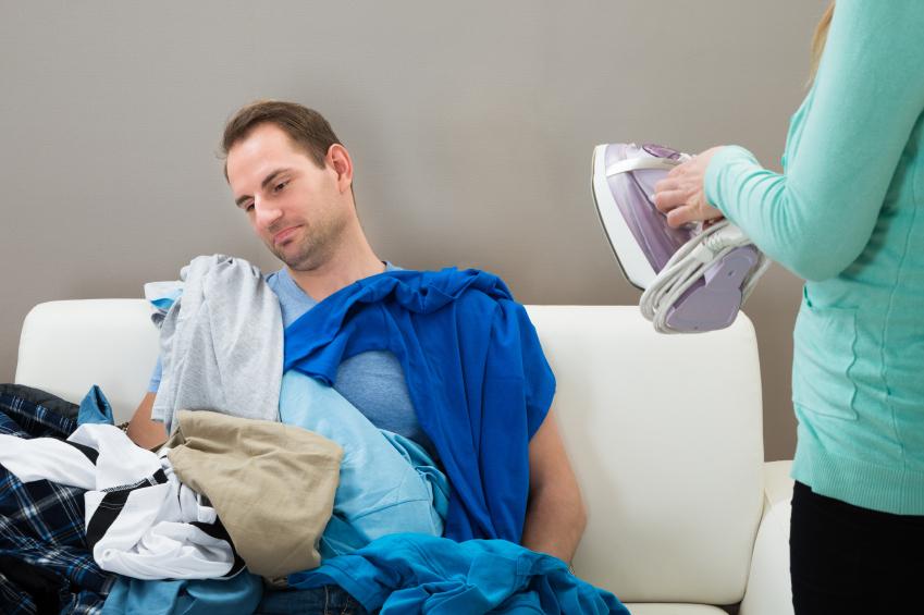 Man that hates ironing