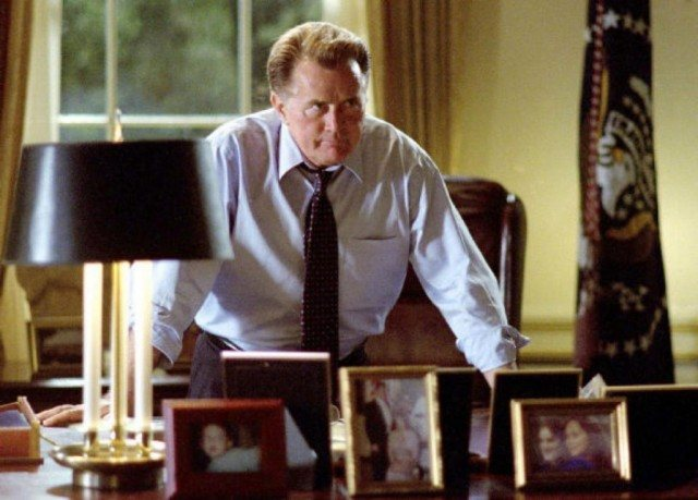 Martin Sheen as President Josiah Bartlett in a scene from NBC's 'The West Wing'