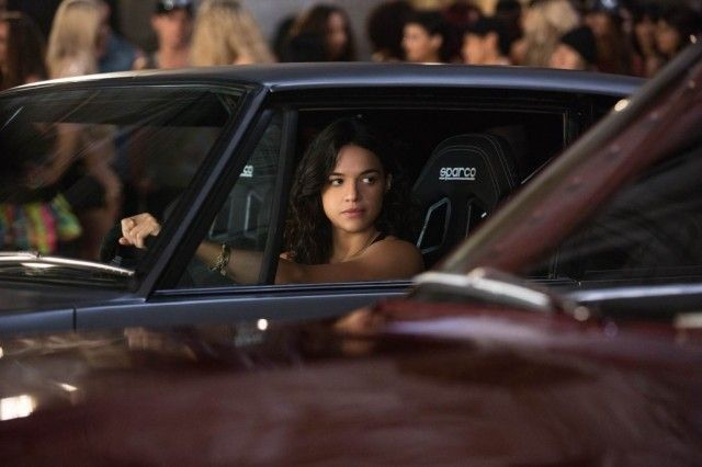 Michelle Rodriguez in a scene from 'Fast & Furious 6'