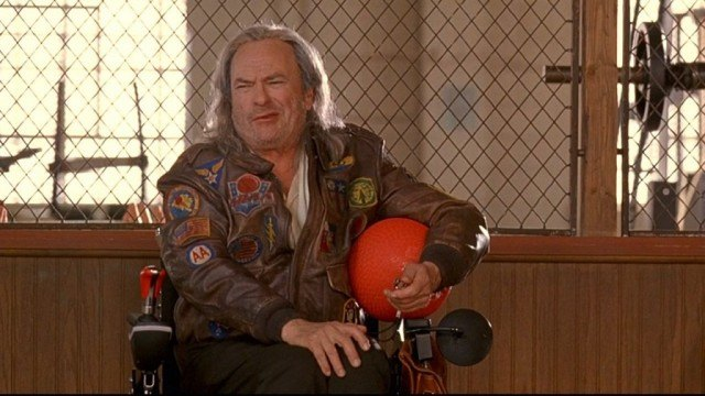 Rip Torn as Patches O'Houlihan in a scene from 'Dodgeball'