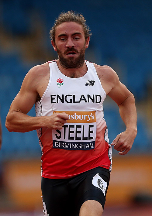 Andrew Steele competes in the 400 meters in July