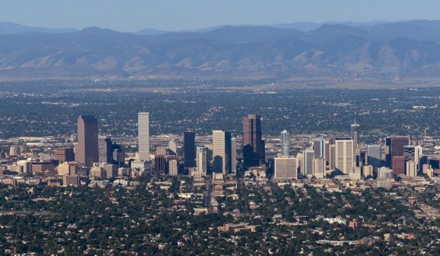 View of Denver, Colorado, from above