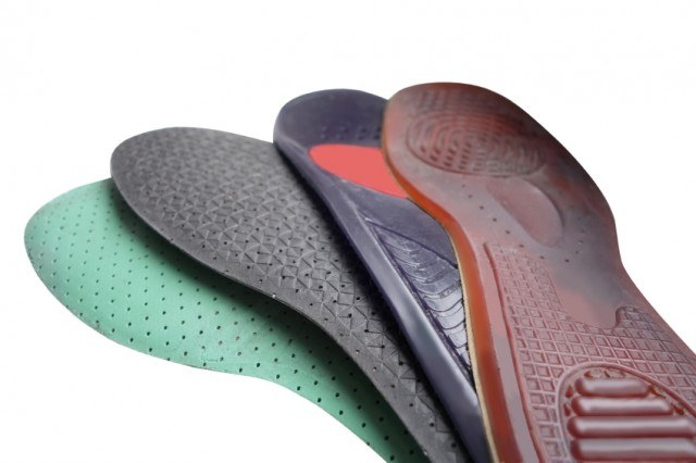 Different colors orthotics or shoe inserts