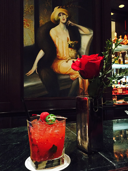El diablo cocktail with raspberries and chiles from Labinot Gashi at Gaby Brasserie Francaise in New York