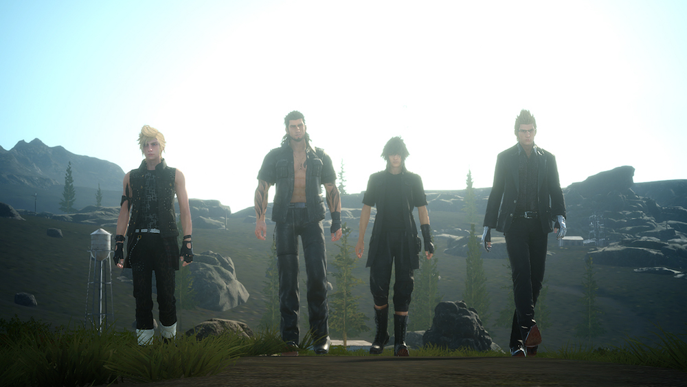 Four heroes on a journey in Final Fantasy XV