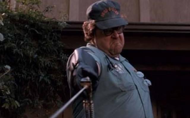 Delbert McClintock (John Goodman) aggressively exterminates insects during a scene in 'Arachnophobia'