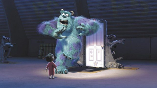 Sully (John Goodman) is terrified to discover a child in 'Monsters, Inc.'