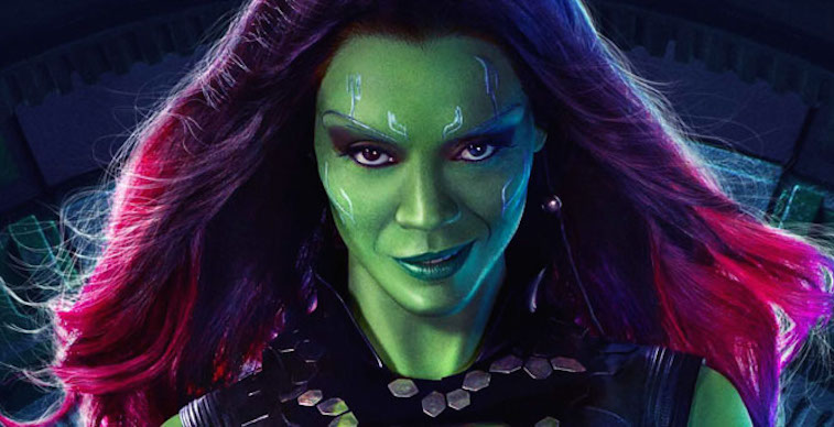 Zoe Saldana in Guardians of the Galaxy | Source: Marvel