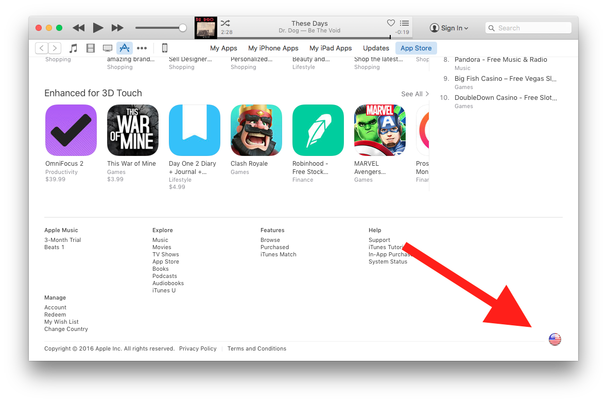 how to change app store country on ipad