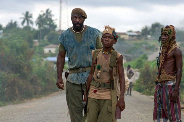 Idris Elba and Abraham Attah in 'Beasts of No Nation'