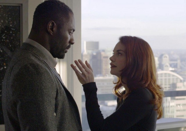 Idris Elba and Ruth Wilson in a scene from the BBC crime drama 'Luther'