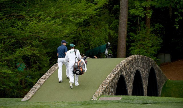 Jordan Spieth playing final Masters round at Augusta Nationa