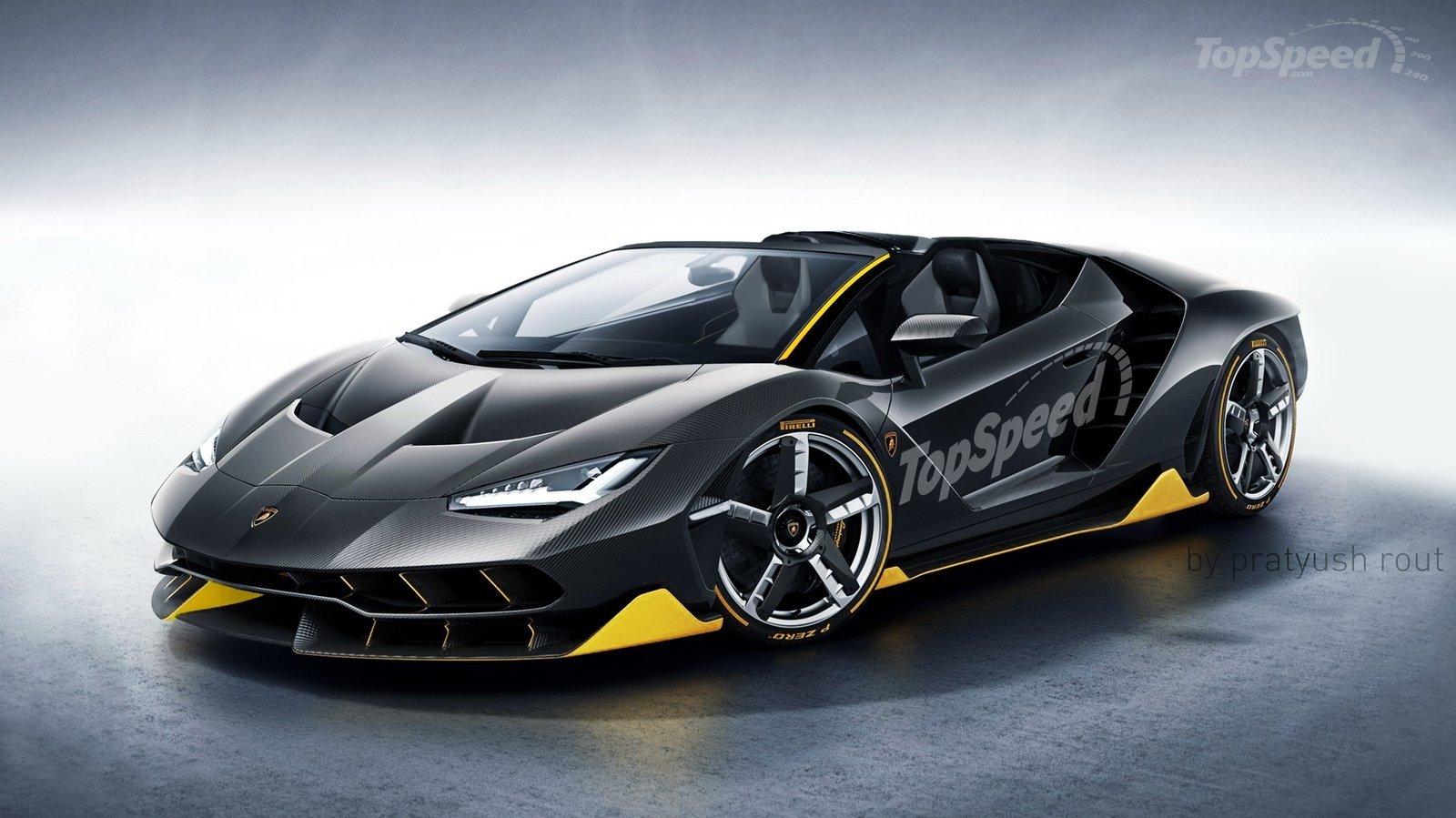heres what a lamborghini centenario roadster could look like
