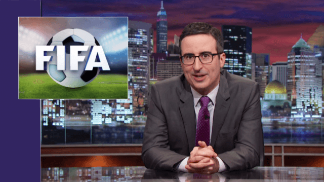 John Oliver earned worldwide praise for his coverage of FIFA's shady practices.