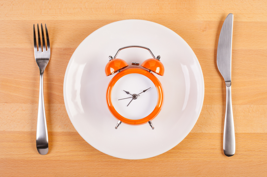 clock on a white plate
