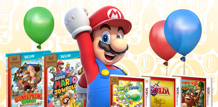 Mario and the Nintendo Selects games.