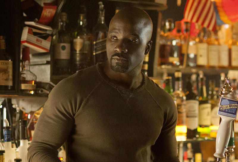 Mike Colter as Luke Cage on Netflix's Jessica Jones