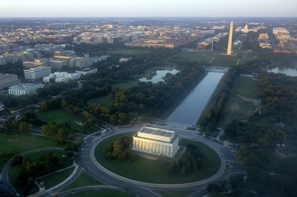 Aerial view of Washington D.C.