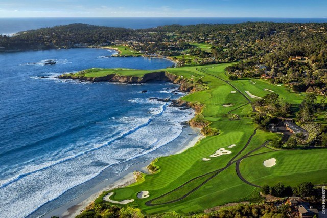 view of the shore and course at Pebble Beach Golf Links