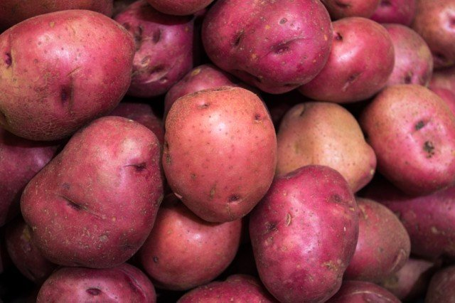 pile of red potatoes
