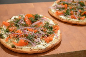 Try This Easy Recipe: 15-Minute Salmon Bagel Flatbread