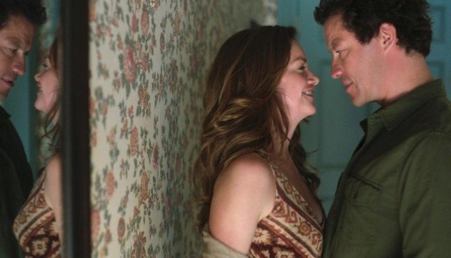 Alison (Ruth Wilson) and Noah (Dominic West) share an intimate moment in 'The Affair'