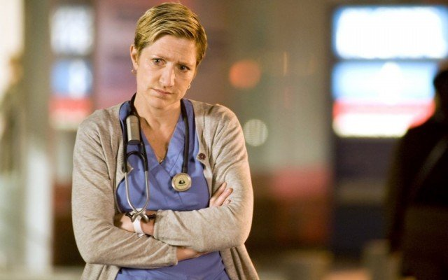 Jackie Peyton (Edie Falco) looks pensive during a scene in 'Nurse Jackie'